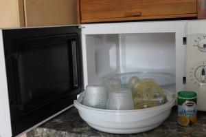 Fertőtlenítés mikrohullámú sütővel