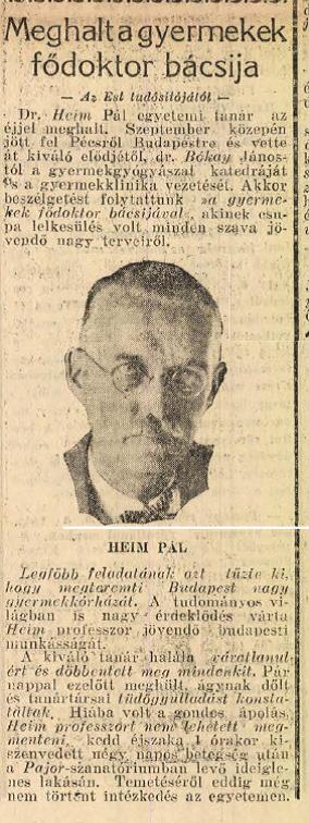 """Cikk az """"Est"""" 1924. október 24.-én megjelent számában"""