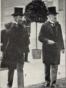 gróf Andrássy Gyula és Ruffy Pál az átadó ünnepségen